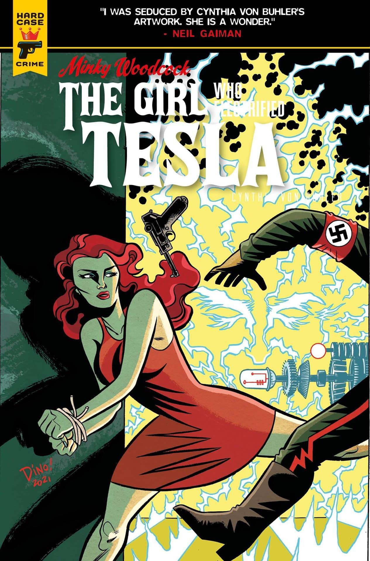 MINKY WOODCOCK GIRL ELECTRIFIED TESLA #4 CVR A HASPIEL (MR)
