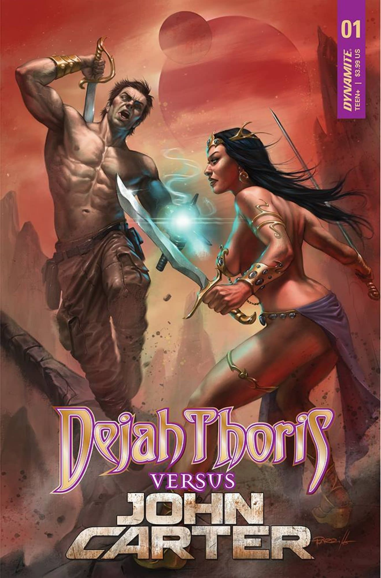 DEJAH THORIS VS JOHN CARTER OF MARS #1 CVR A PARRILLO