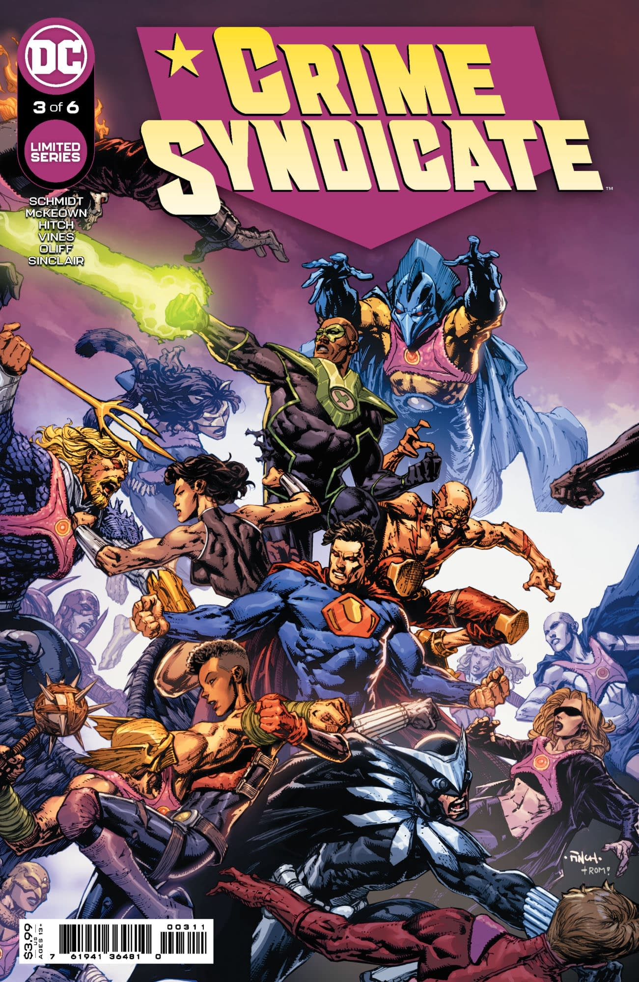 Cover image for CRIME SYNDICATE #3 (OF 6) CVR A DAVID FINCH