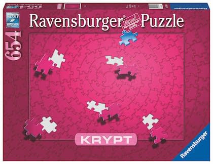 The new hot-pink Krypt monochromatic puzzle, by Germany-based game company Ravensburger.