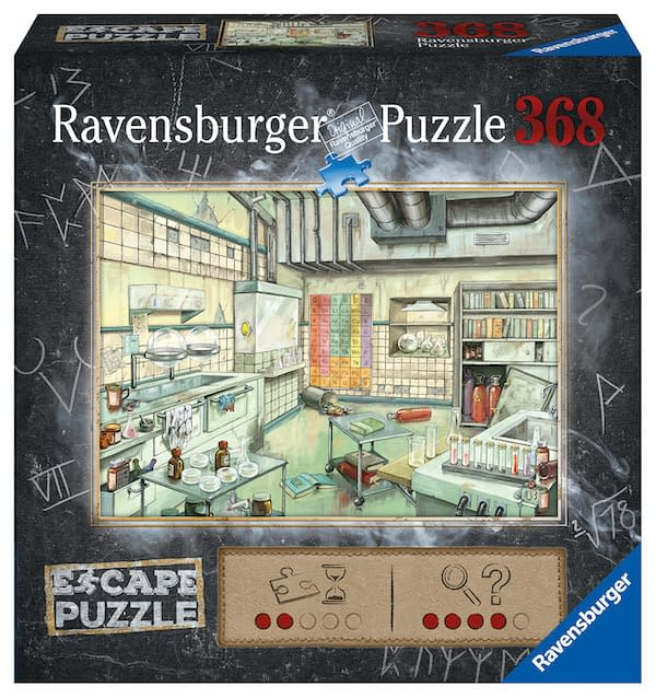 """""""The Laboratory"""", a new """"Kids' Escape Puzzle"""" release from Ravensburger."""