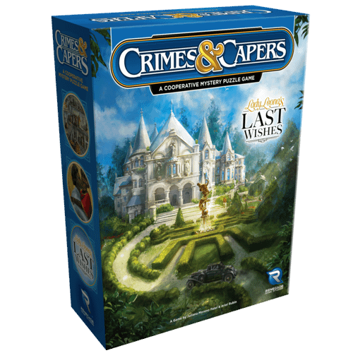 Crimes & Capers: Lady Leona's Last Wishes, the second of two new cooperative mystery puzzle games announced by Renegade Game Studios.