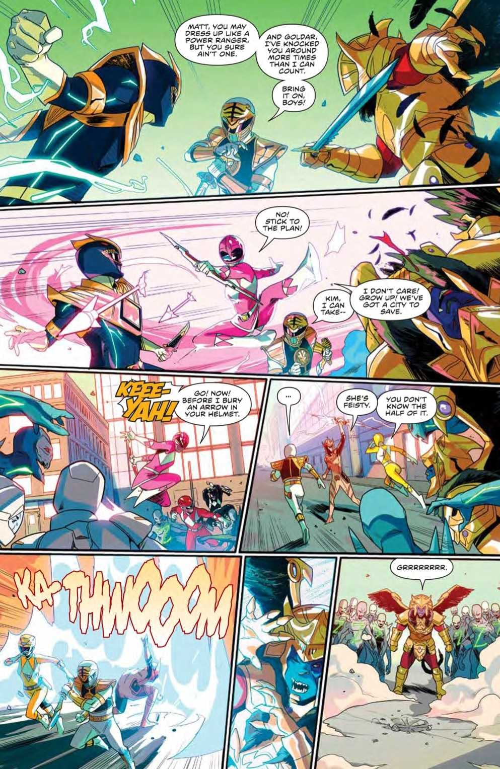 Interior preview page from MIGHTY MORPHIN #7 CVR A LEE
