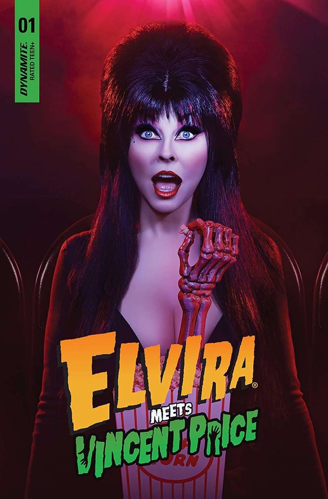 ELVIRA MEETS VINCENT PRICE #1 CVR D PHOTO