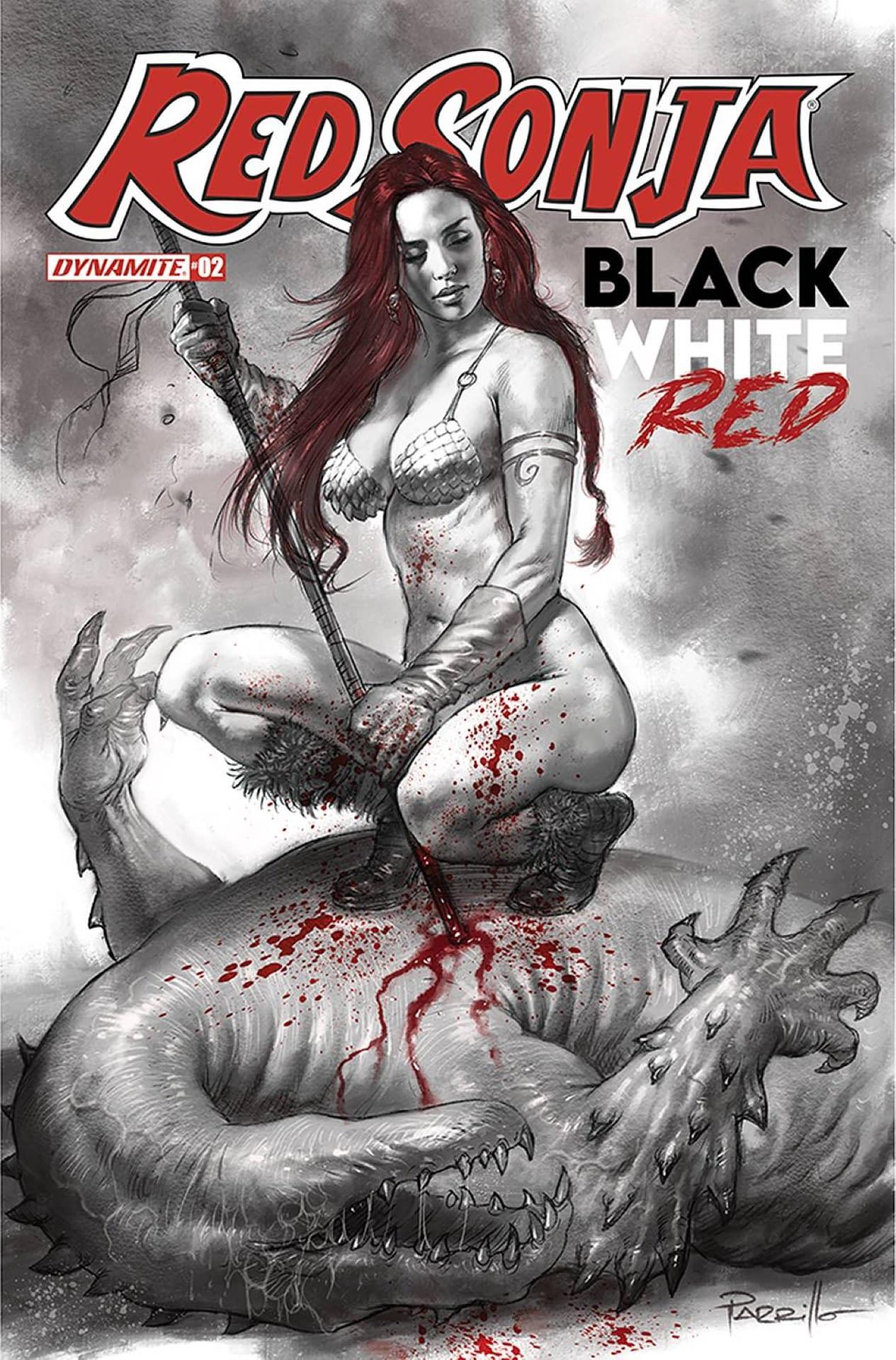 RED SONJA BLACK WHITE RED #2 CVR A PARRILLO