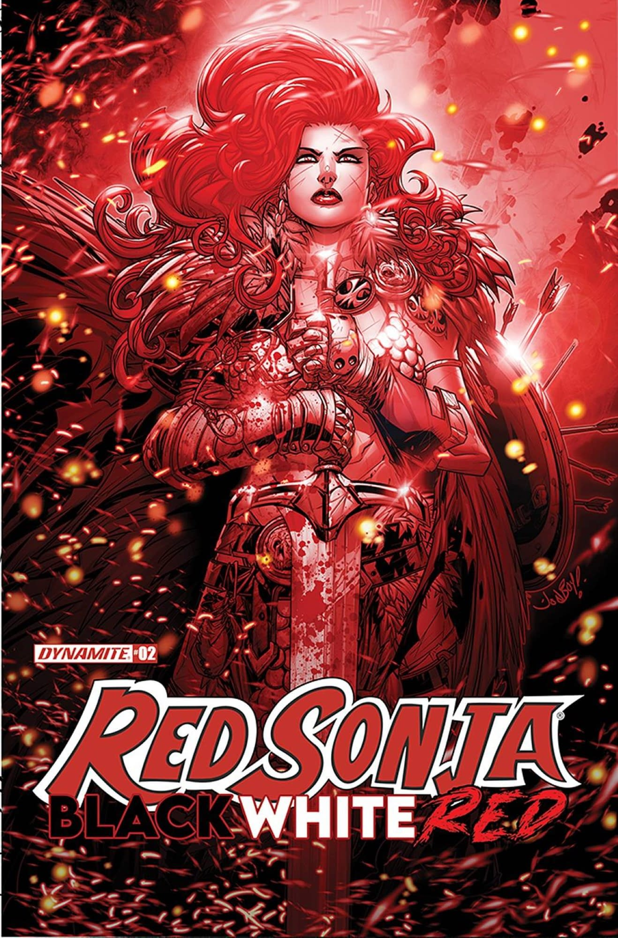 RED SONJA BLACK WHITE RED #2 CVR B MEYERS