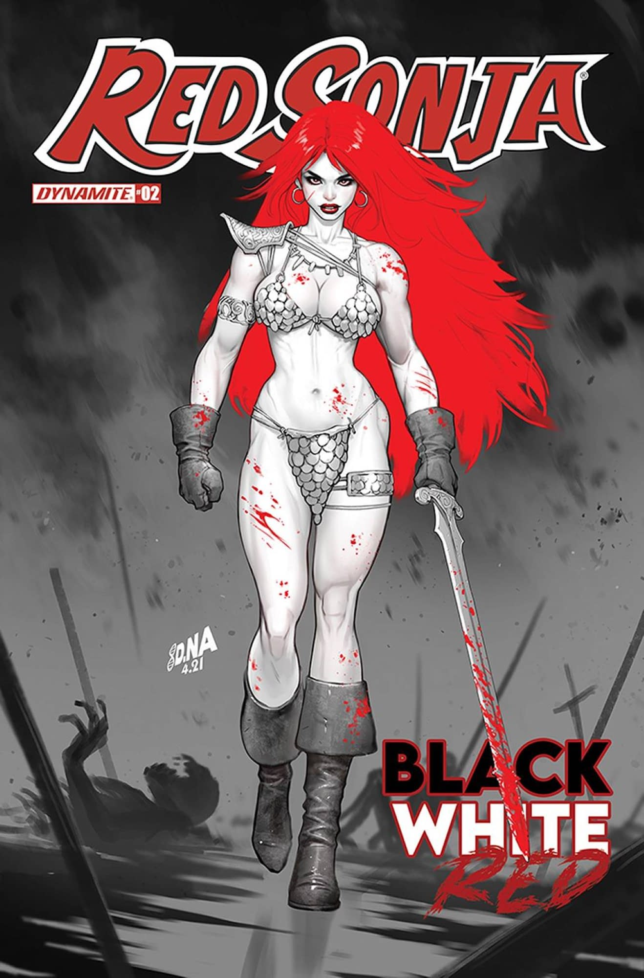 RED SONJA BLACK WHITE RED #2 CVR C NAKAYAMA