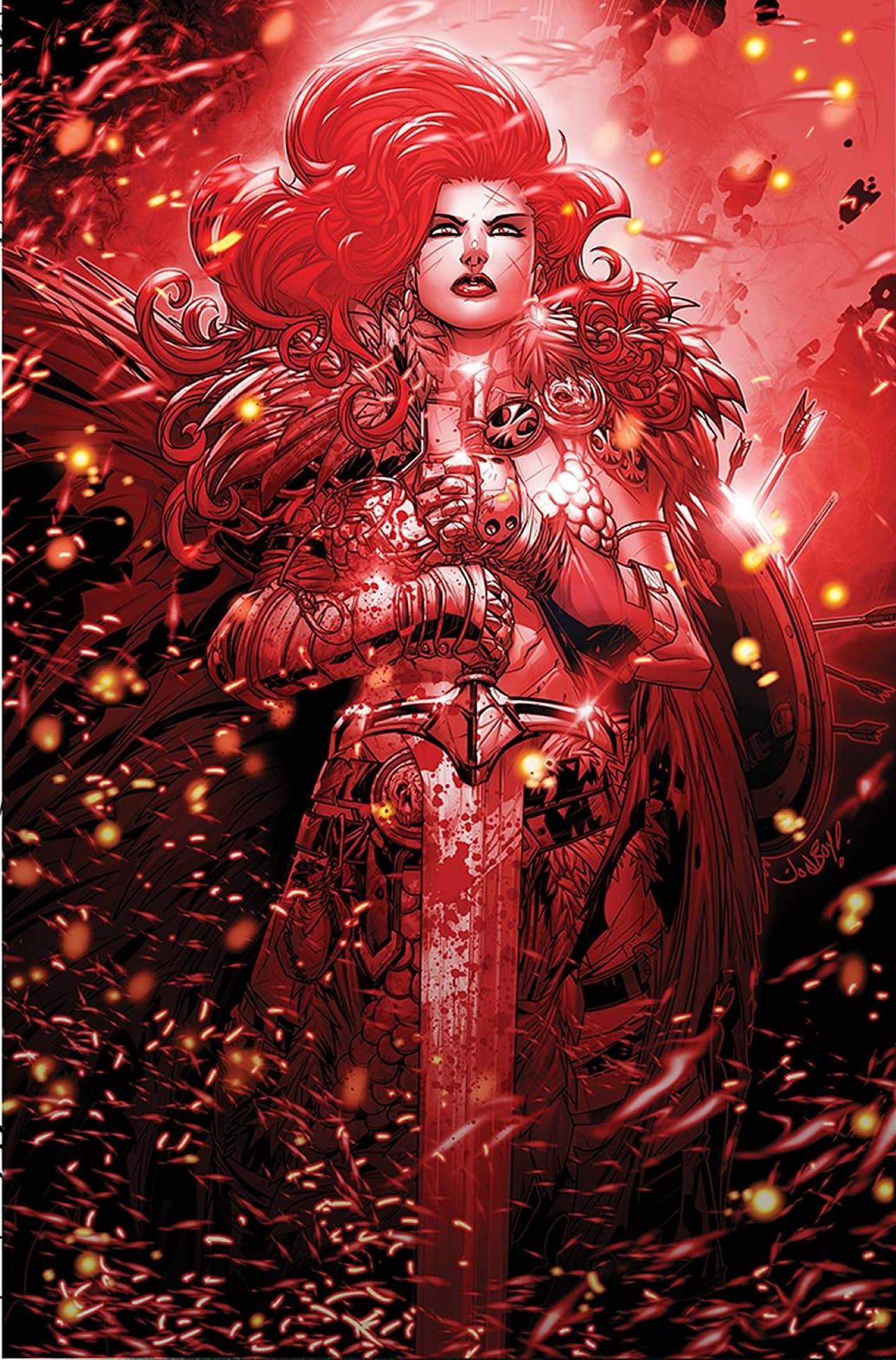 RED SONJA BLACK WHITE RED #2 CVR L MEYERS LTD VIRGIN