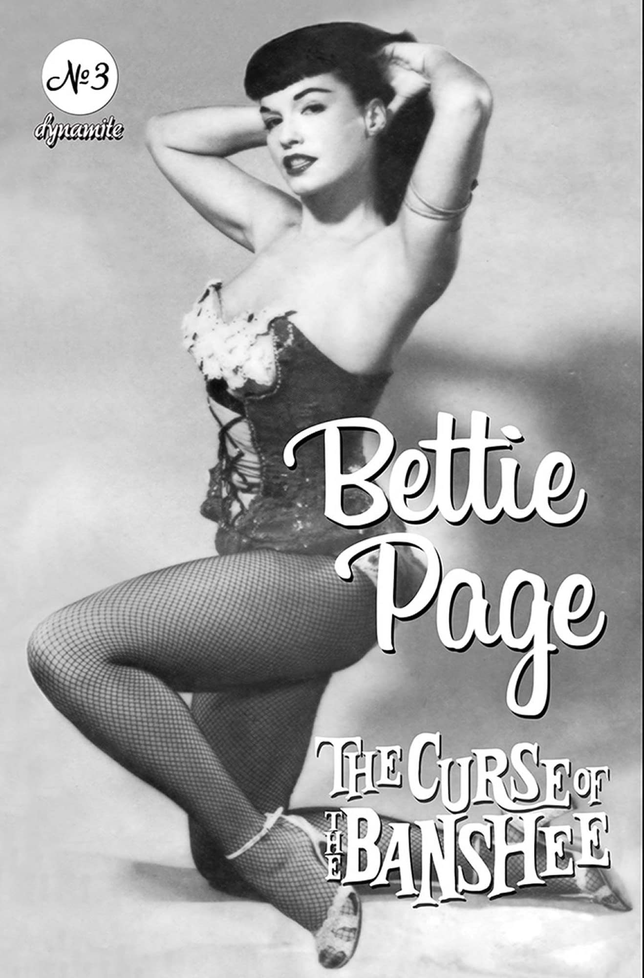 BETTIE PAGE & CURSE OF THE BANSHEE #3 CVR E BETTIE PAGE PIN
