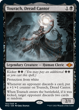 Tourach, Dread Cantor, a new legendary creature card from Magic: The Gathering's next upcoming set, Modern Horizons 2.