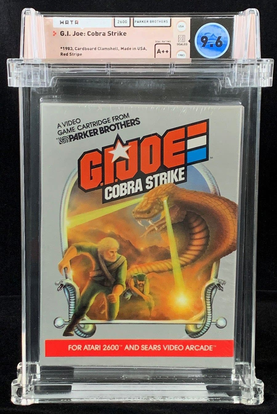 GI Joe: Cobra Strike Graded Atari Game Up For Auction At ComicConnect