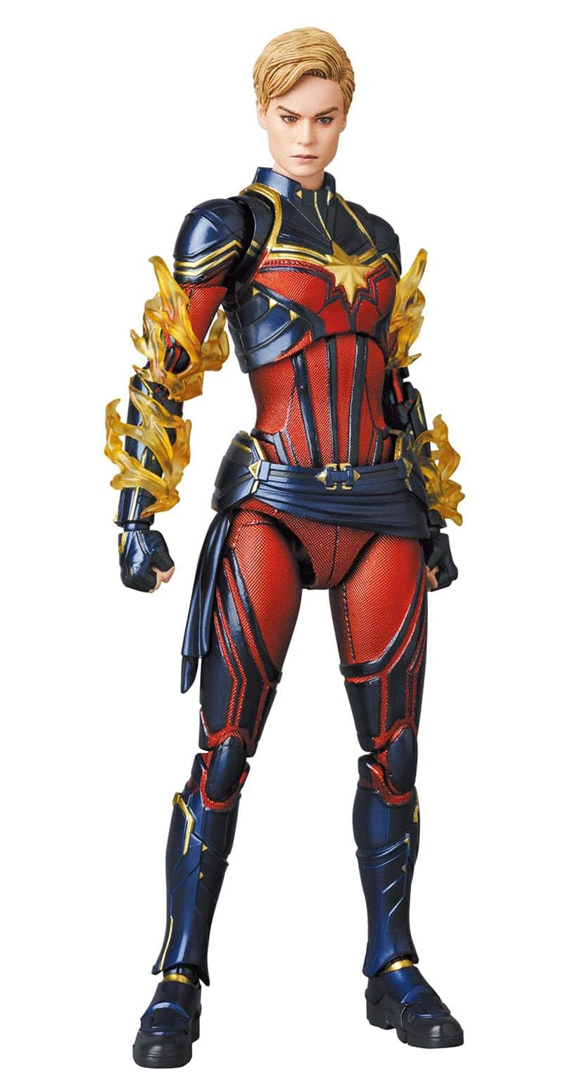 Captain Marvel Embraces the Endgame With New Marvel MAFEX Figure