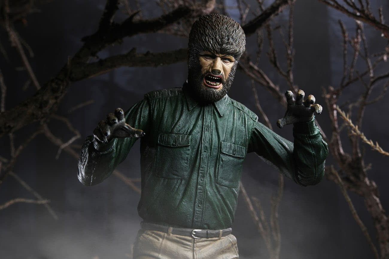 NECA Officially Announces Universal Monsters Wolf Man Color Figure