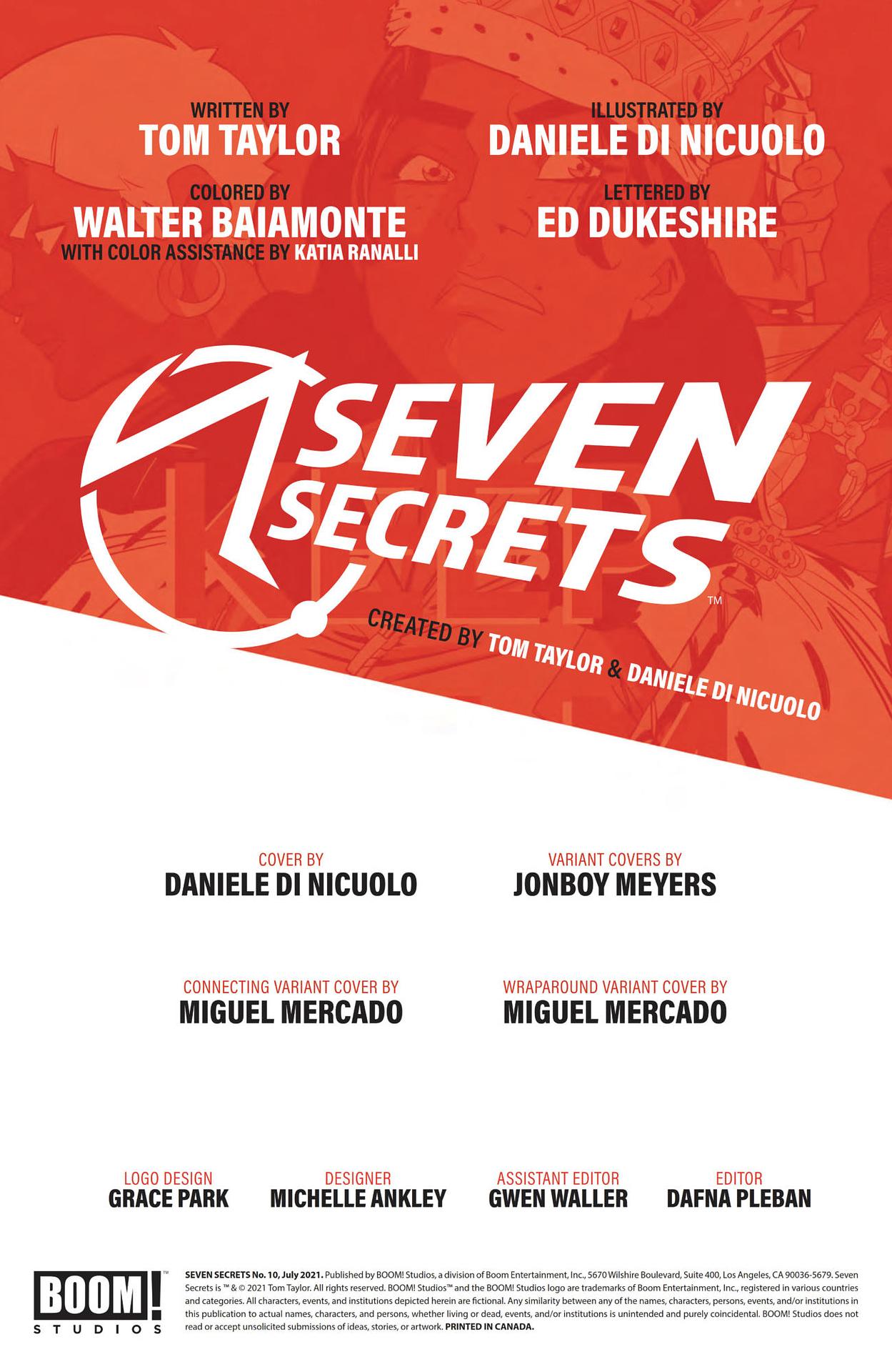 Interior preview page from SEVEN SECRETS #10 CVR A DI NICUOLO