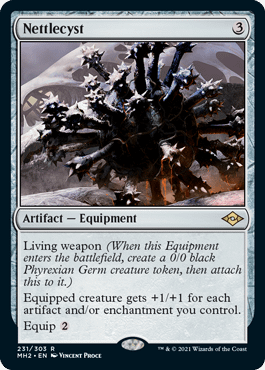 Nettlecyst, a Magic: The Gathering card from Modern Horizons II that's being reprinted in the digital-only JumpStart: Historic Horizons set.