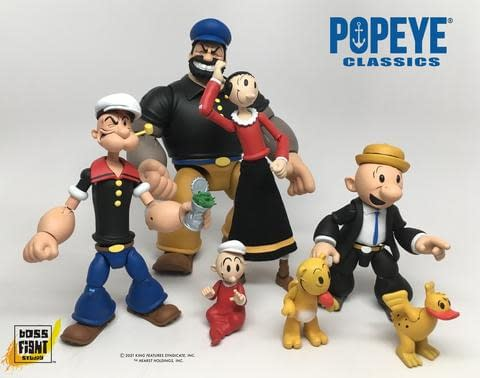 Popeye Classic Figures Finally Revealed From Boss Fight Studio