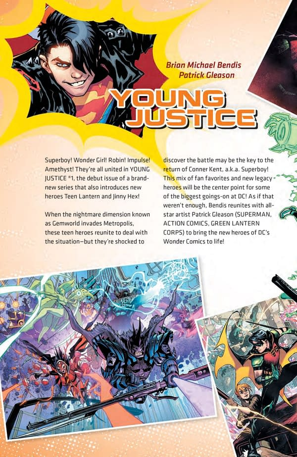 DC Comics Change Young Justice #1 Cover to Feature the Girls as Well as The Boys