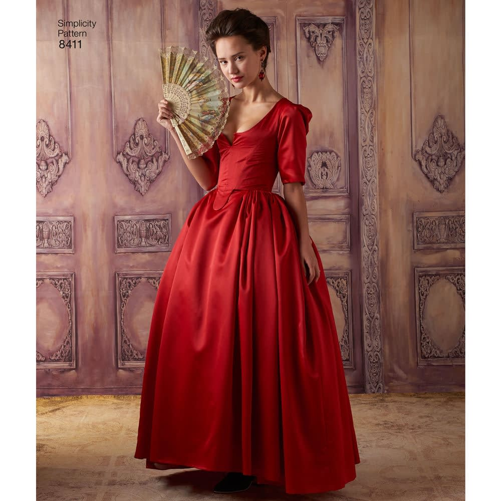 """Actress Caitriona Balfe who plays Claire on """"Outlander"""" in the SCANDALOUS red dress from the show"""
