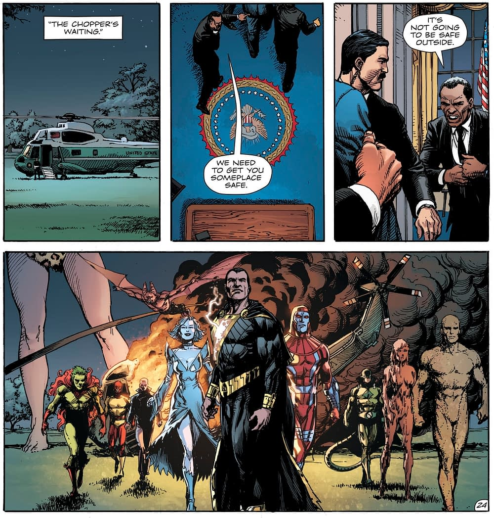 The Fate of President Donald Trump in Doomsday Clock #11