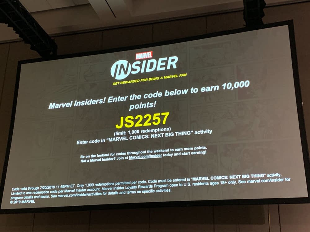 Your Insider Code From Marvel's Next Big Thing Panel at San