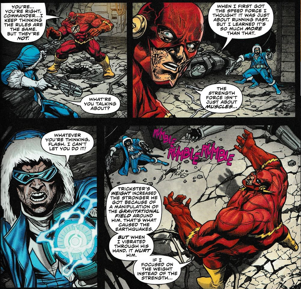 Flash Gets New Powers From The Strength Force - Flash #54