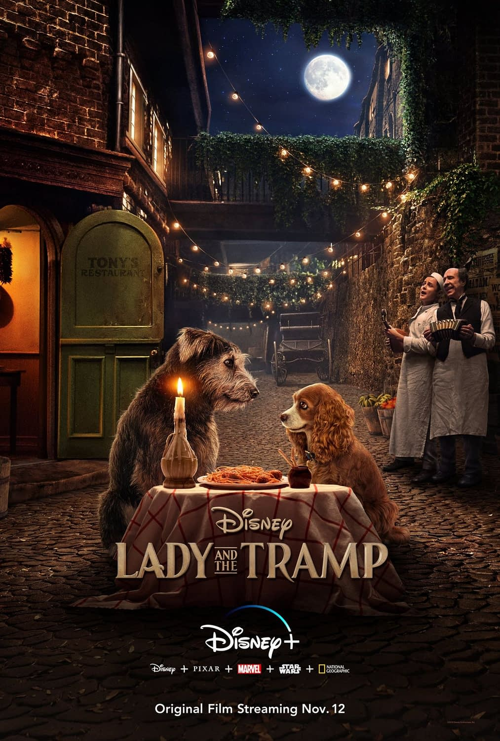 """Disney Releases the Poster for the Disney+ Remake of """"Lady and the Tramp"""""""