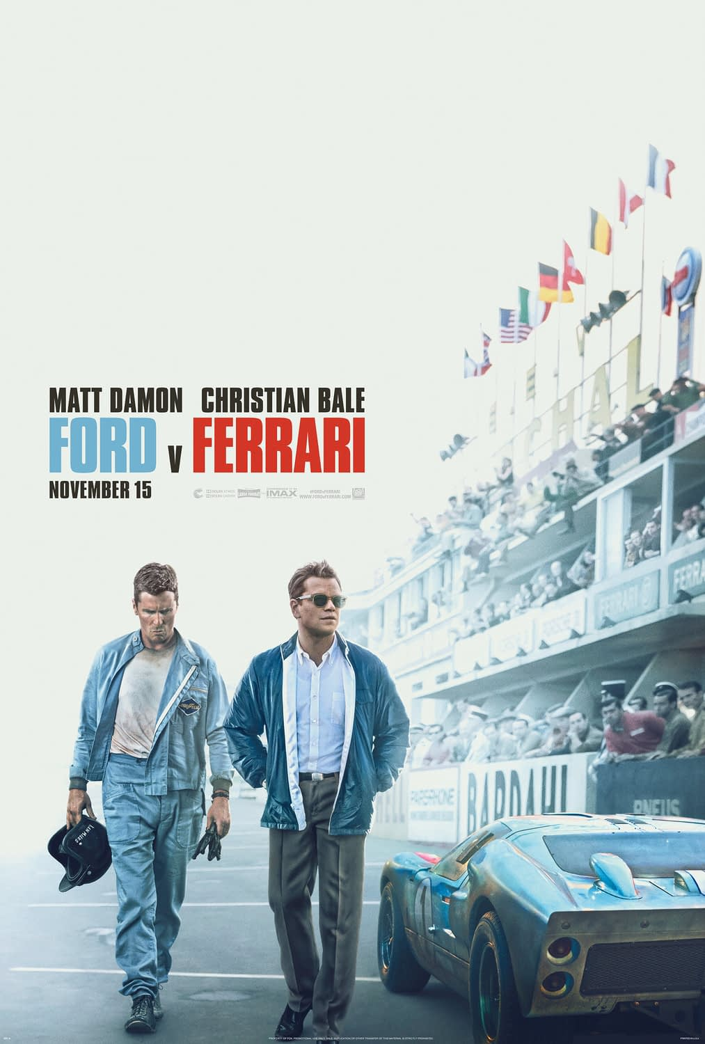 "New ""Ford v Ferrari"" Trailer Teases a Hell of a Race"