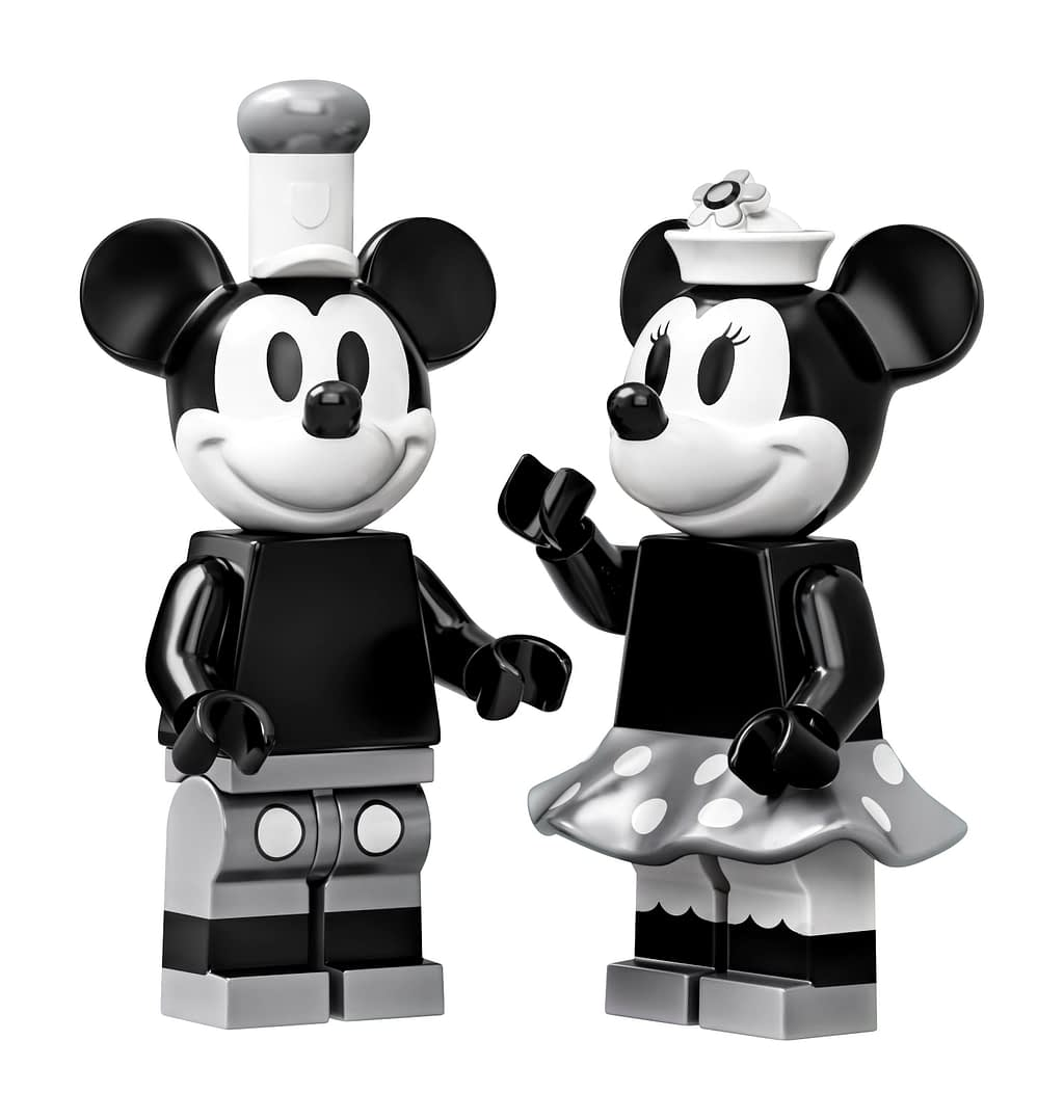 LEGO Ideas Steamboat Willie Mickey and Minnie Mouse Set 4
