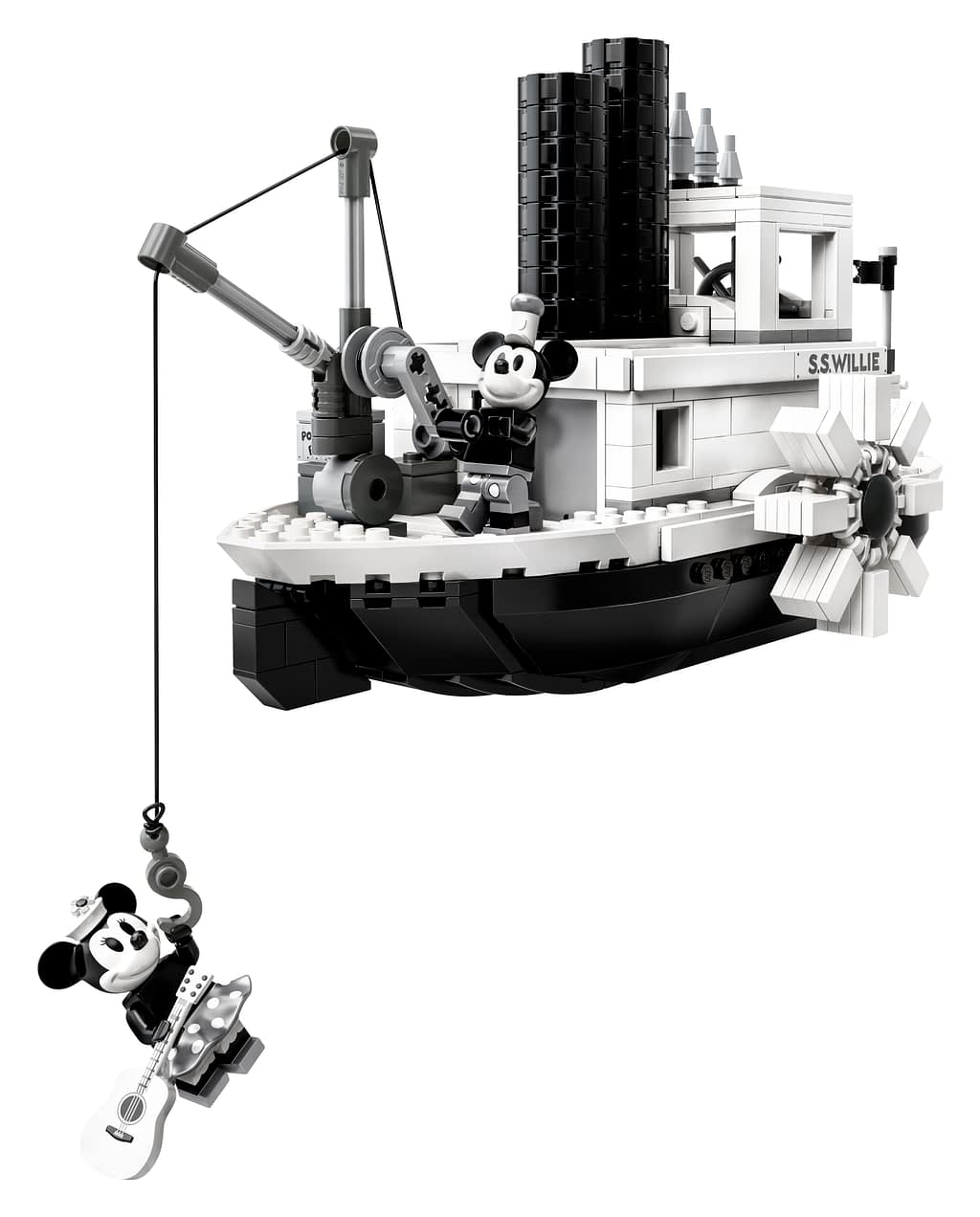 LEGO Ideas Steamboat Willie Mickey and Minnie Mouse Set 7