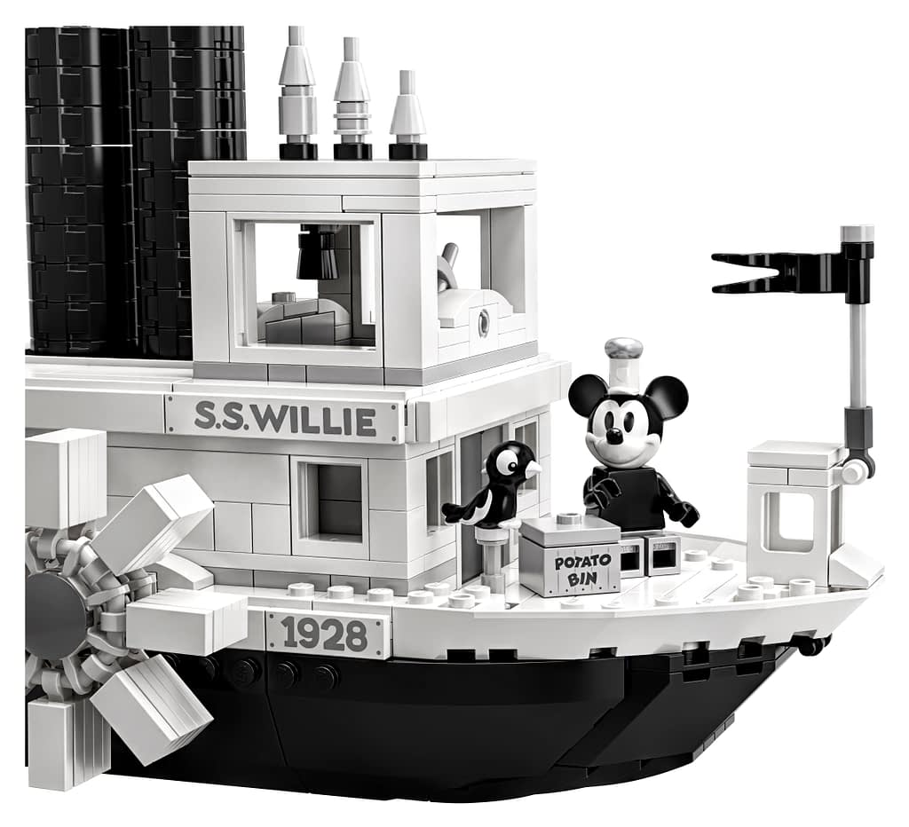 LEGO Ideas Steamboat Willie Mickey and Minnie Mouse Set 10