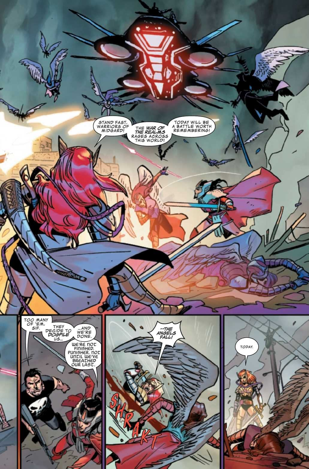 Punisher Predicts More Casualties in Asgardians of the Galaxy #10 (Preview)