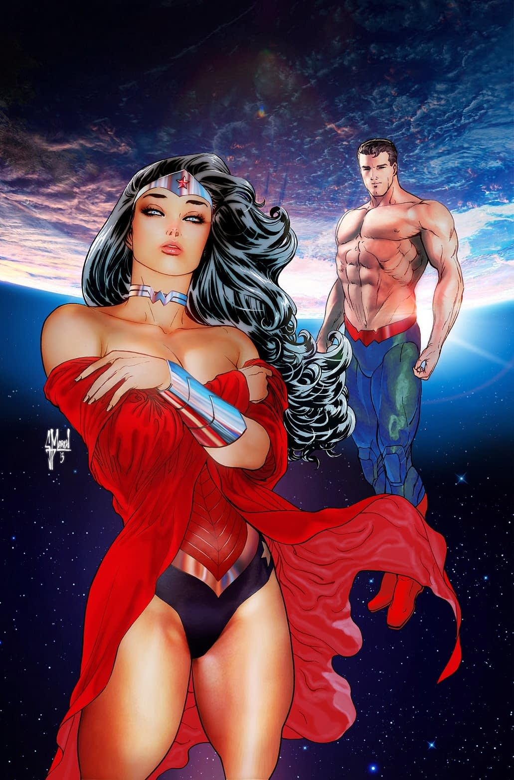 Superman Wonderwoman cover