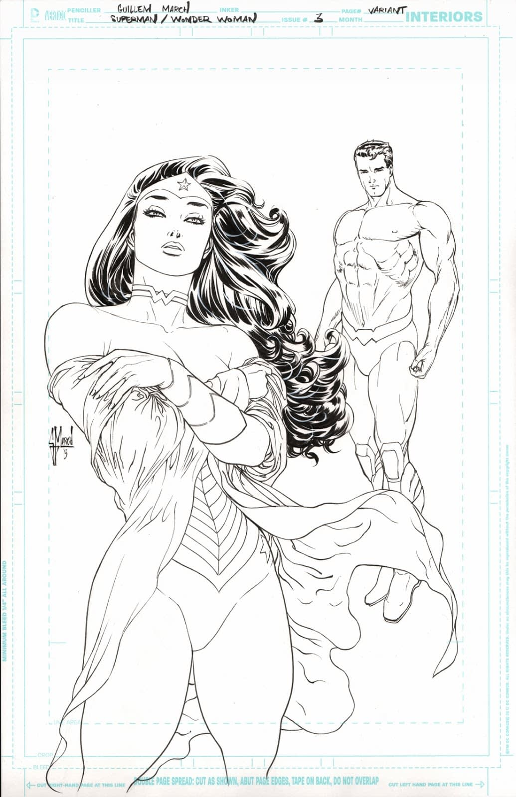 Superman Wonderwoman cover - scan