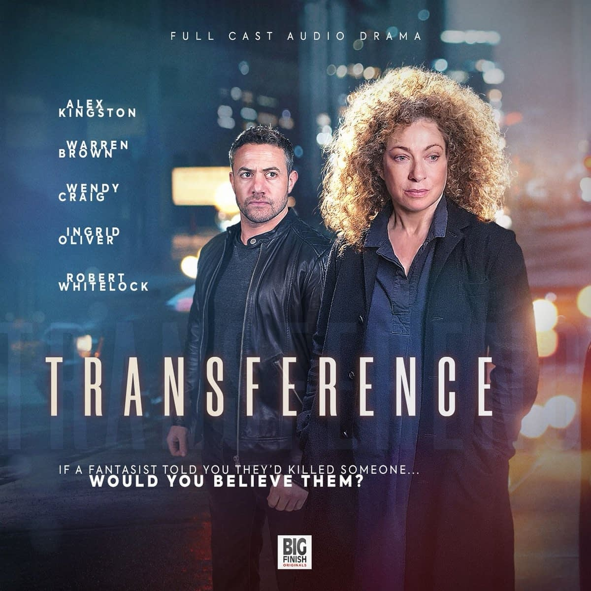 """""""Transference"""" starring Alex Kingston: A Fun but Flawed Hitchcockian Audio Thriller"""