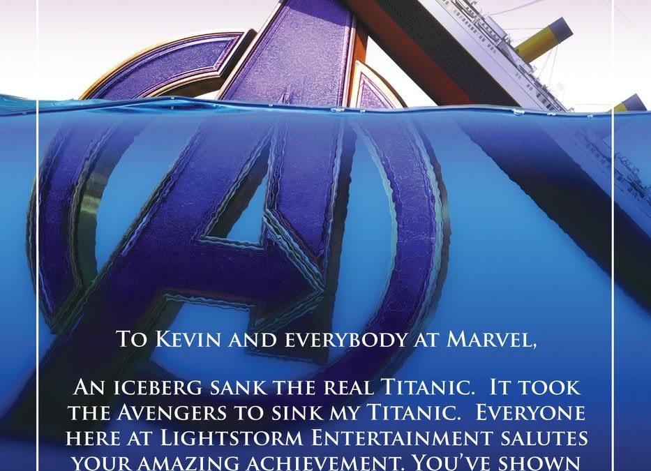 James Cameron's Strange 'Avengers: Endgame' Sinking 'Titanic' Congrats