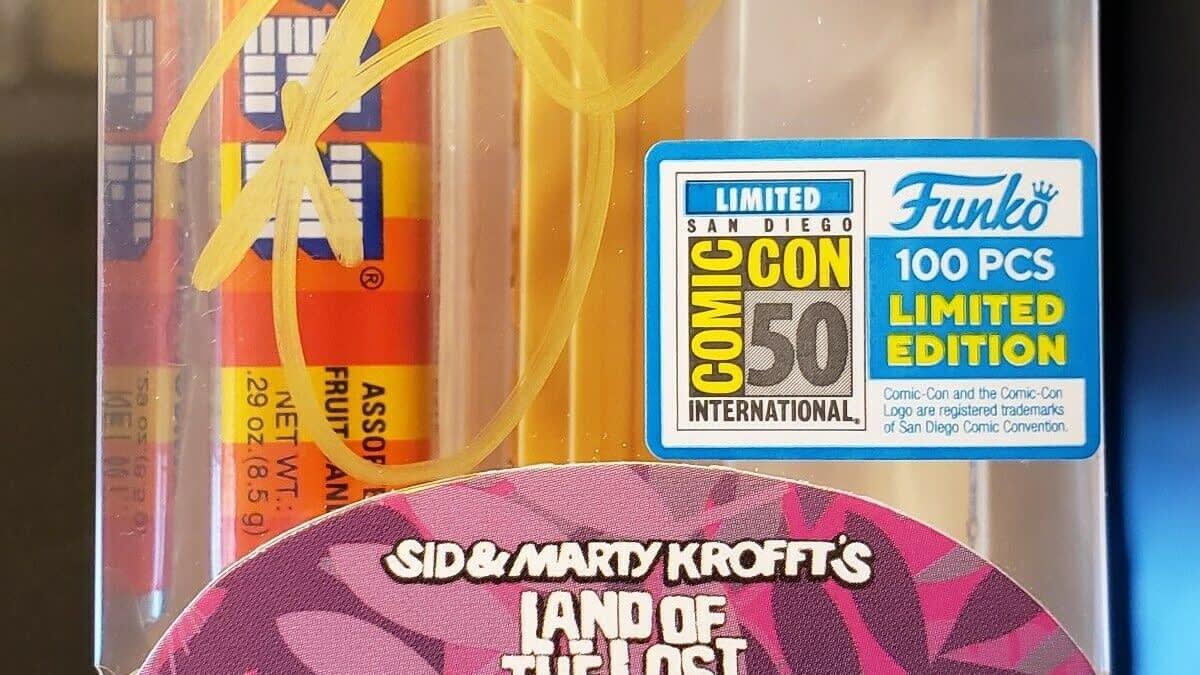 "SDCC Exclusive Gold ""Land Of The Lost"" Funko PEZ Dispenser Just Sold for $1500 on eBay"