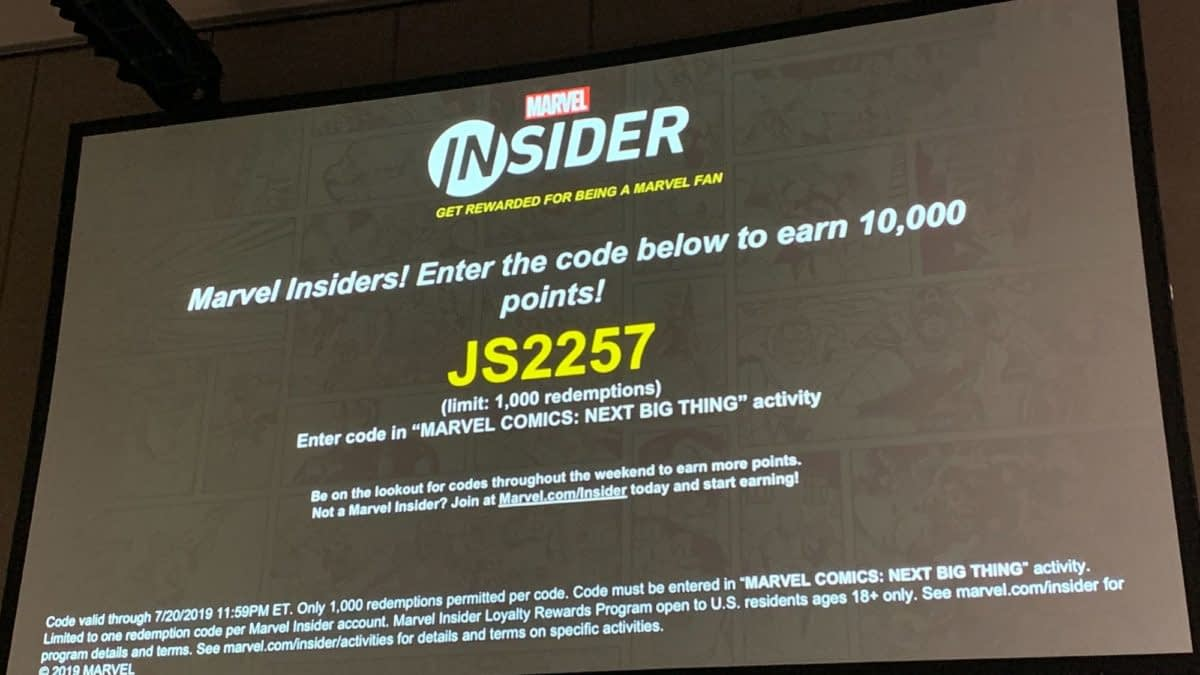 Your Insider Code From Marvel's Next Big Thing Panel at San Diego Comic-Con