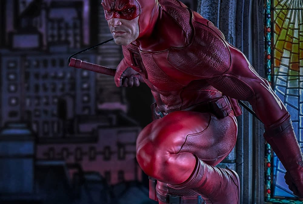 Daredevil Arrives with New Statue by Sideshow/Iron Studios