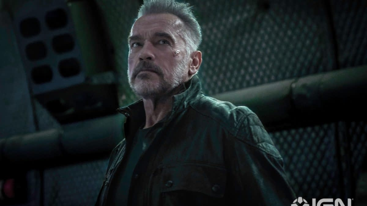 "New Picture of Arnold Schwarzenegger in ""Terminator: Dark Fate"""