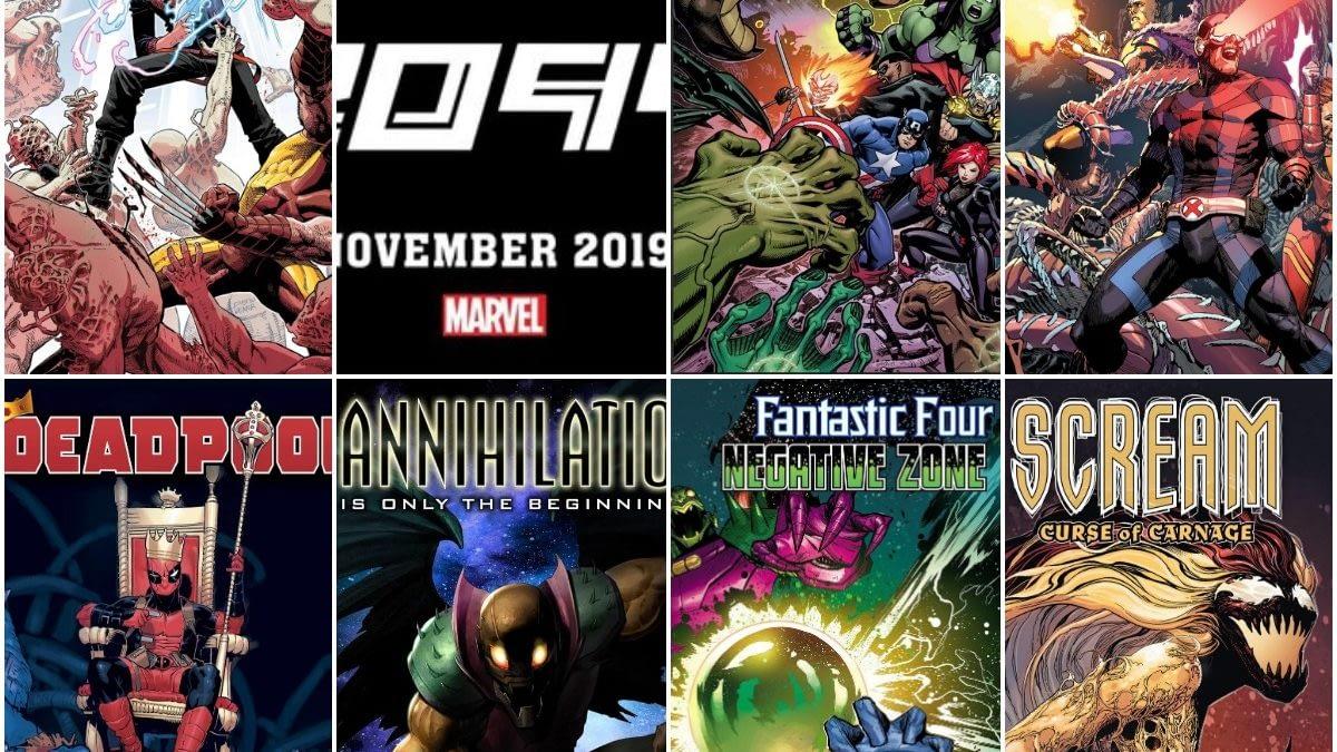 Marvel Comics Solicitations For November 2019 – 20 Of Them Frankensteined (Yondu Update)