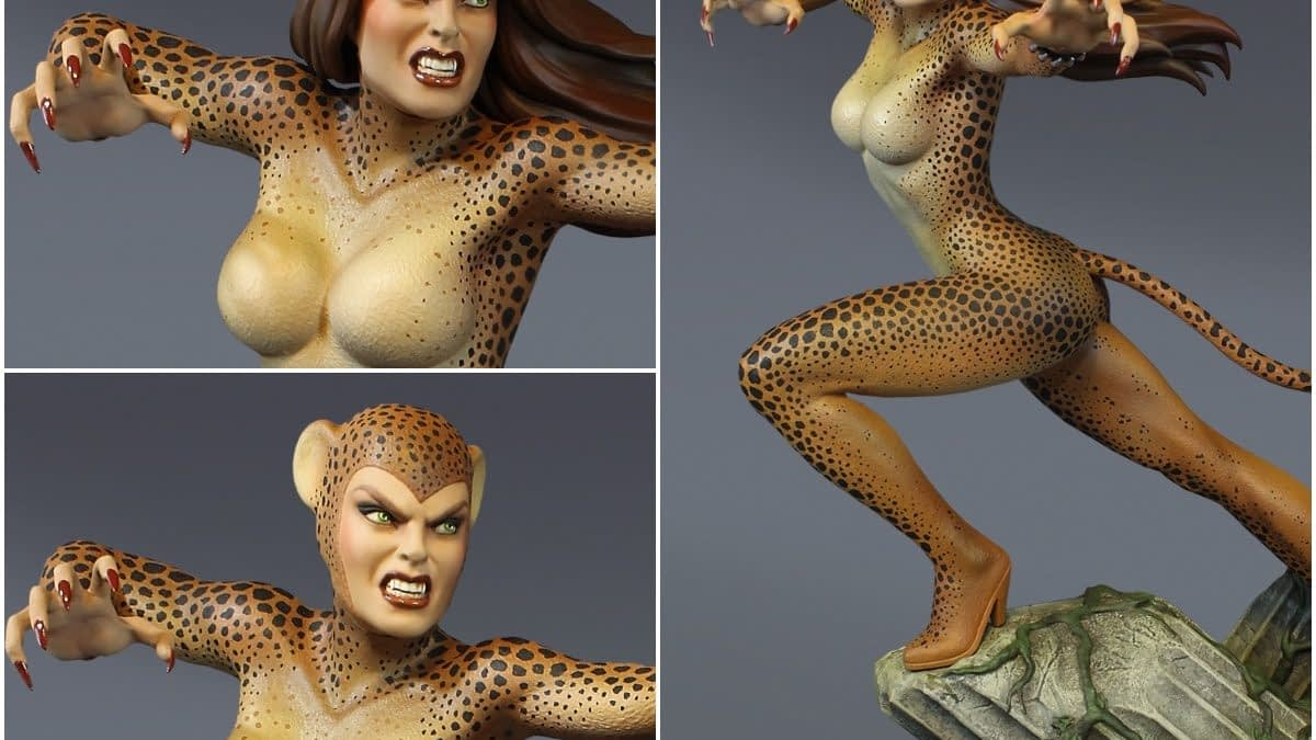 Cheetah Rumbles in the Jungle with New Tweeterhead Statue [PREVIEW]