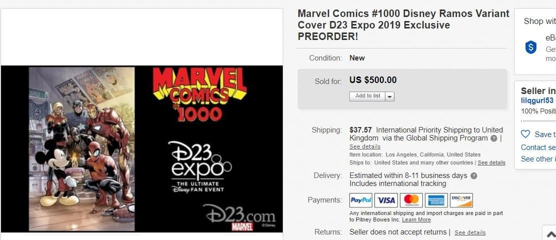 How D23 Affected the Comic Book Market on eBay This Weekend - Moon Girl, Moon Knight, Black Knight, Ms Marvel and She-Hulk