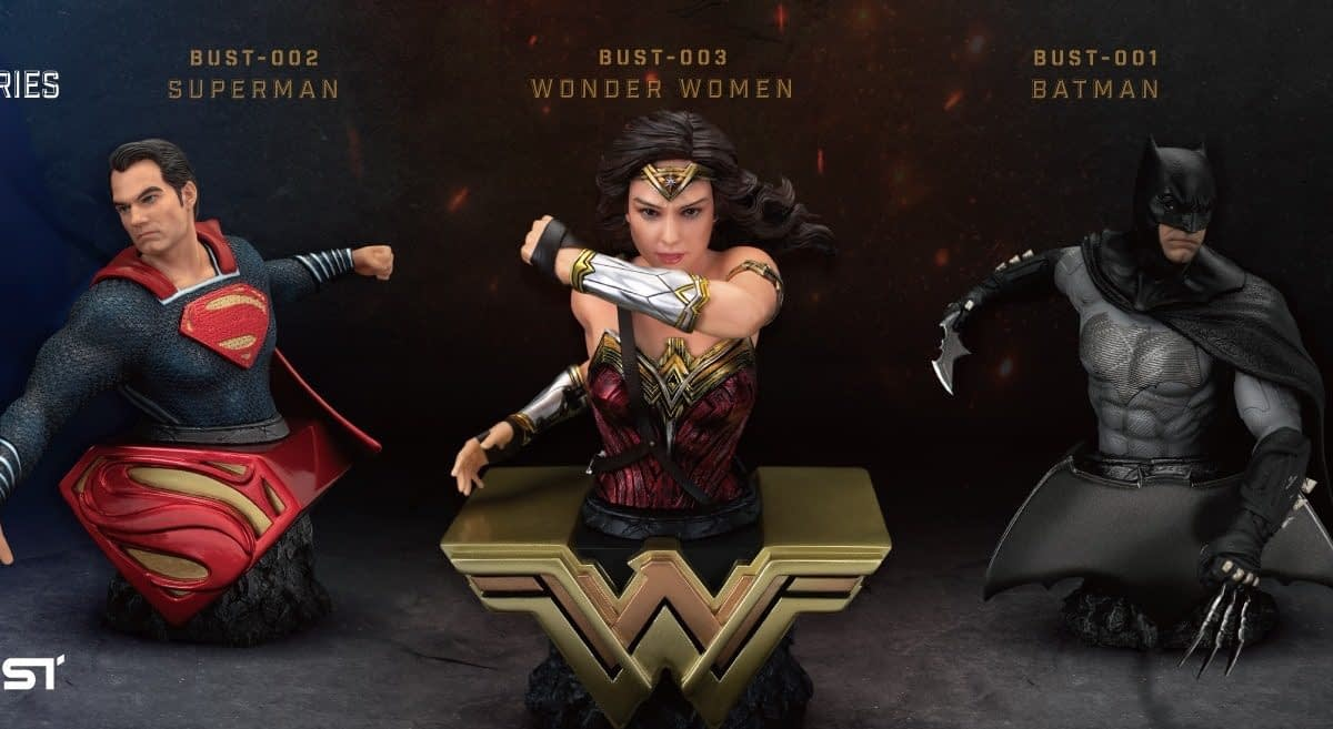 """""""Justice League"""" Trinity Get Busty with New Beast Kingdom Series"""