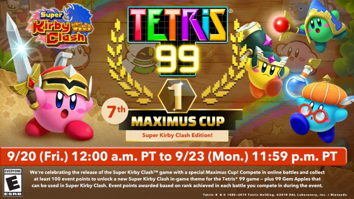 """Super Kirby Clash"" Is Getting A ""Tetris 99"" Maximus Cup"