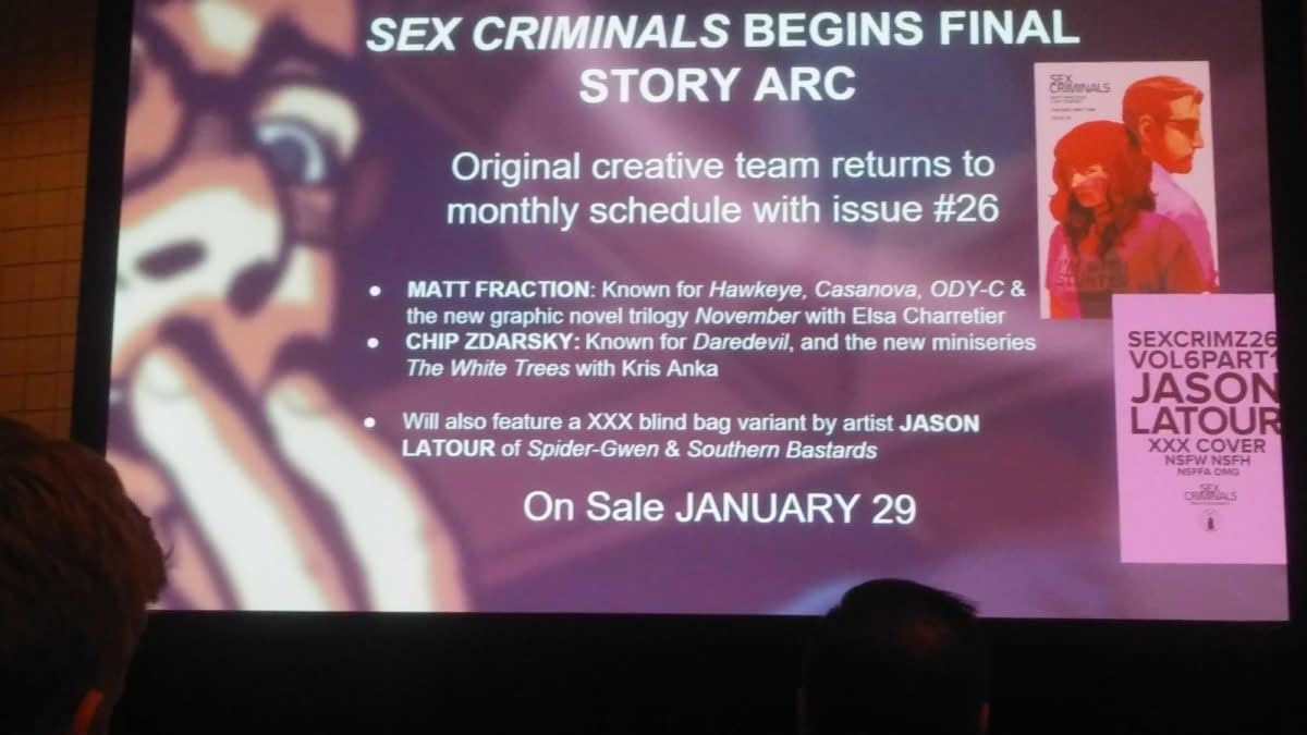 "Return of ""Sex Criminals"", ""The Goddamned"", ""DieDieDie"", ""Low"", ""Nailbiter"" and, Yes, ""Saga"", From Image Comics in 2020"