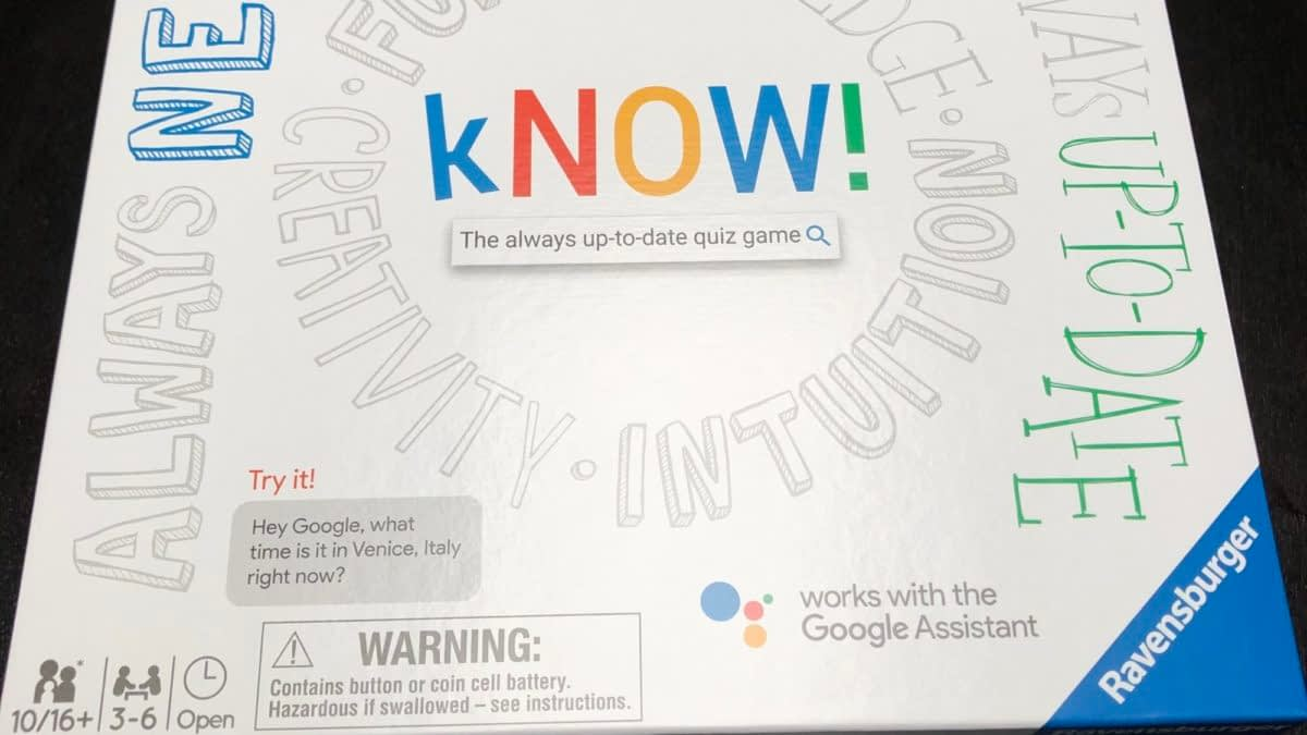Review: KNOW! The Google Assistant Board Game By Ravensburger