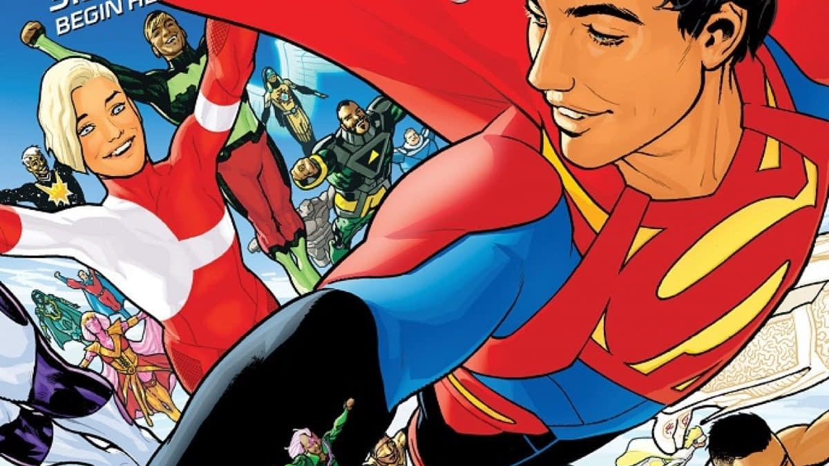 Superboy Explores the Phallic Future in Art from Bendis and Sook's Legion of Super-Heroes #1