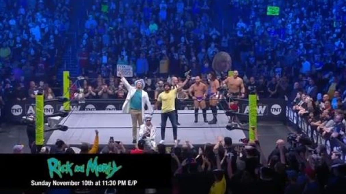 """Rick and Morty"" Turn ""Hype Men"" for AEW's Best Friends, Orange Cassidy [VIDEO]"