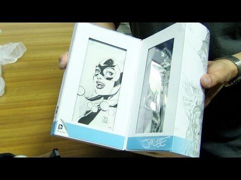 SDCC '15: Jim Lee Prepares Sketches For The BlueLine Batman Figure
