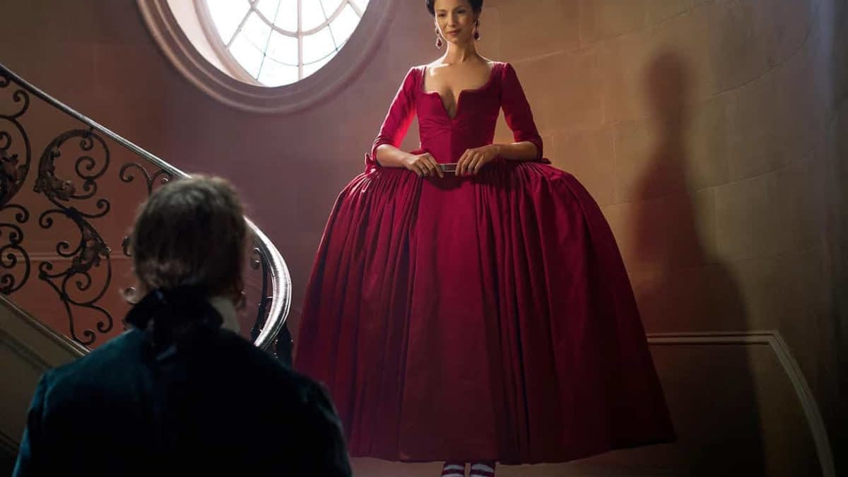Outlander's Red Dress Debate Continues To Cause A Stir